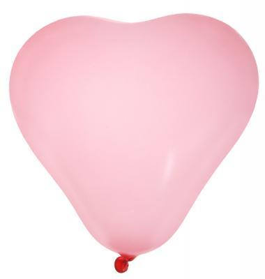 Ballon coeur rose (x8) REF/4442