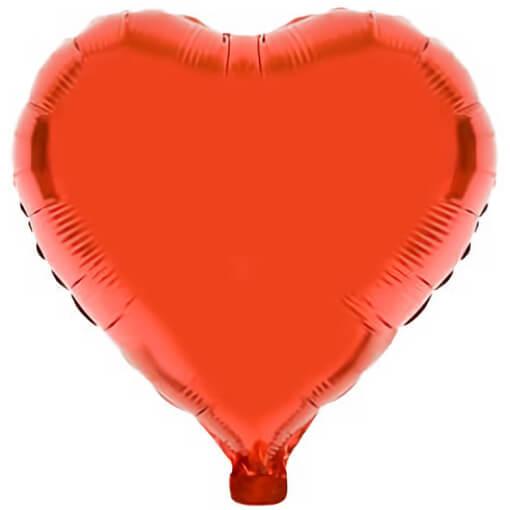 Ballon coeur rouge en aluminium