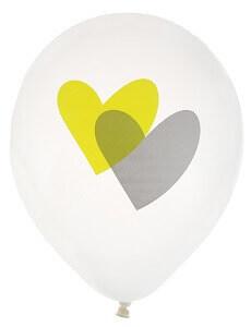Ballon coeurs vert