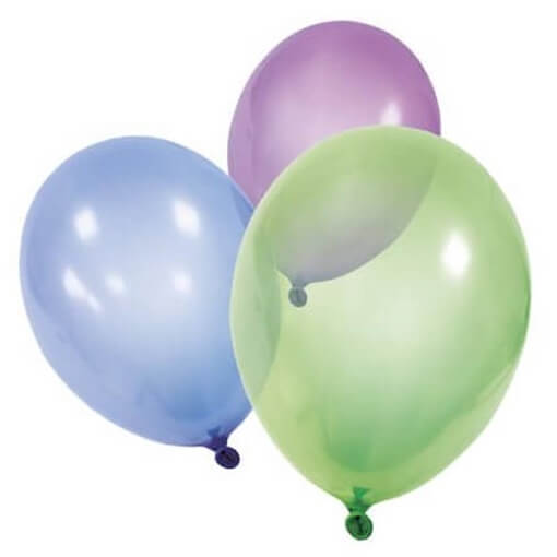 Ballon cristal multicolore en latex