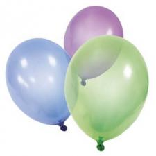 Ballon cristal multicolore en latex 32cm (x10) REF/BA1256