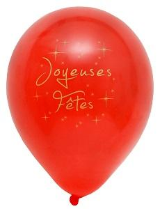 Ballon joyeuses fêtes rouge (x8) REF/4457