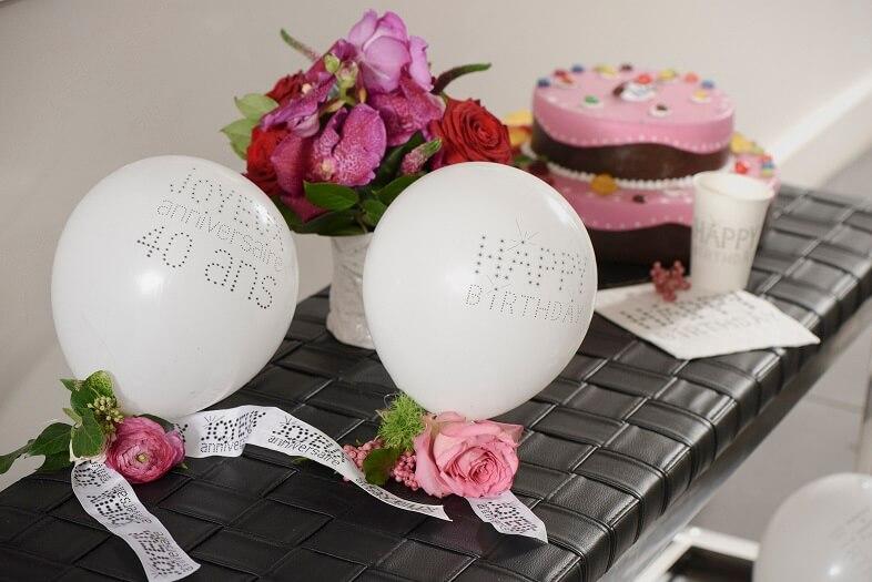 Ballon en latex joyeux anniversaire 40ans