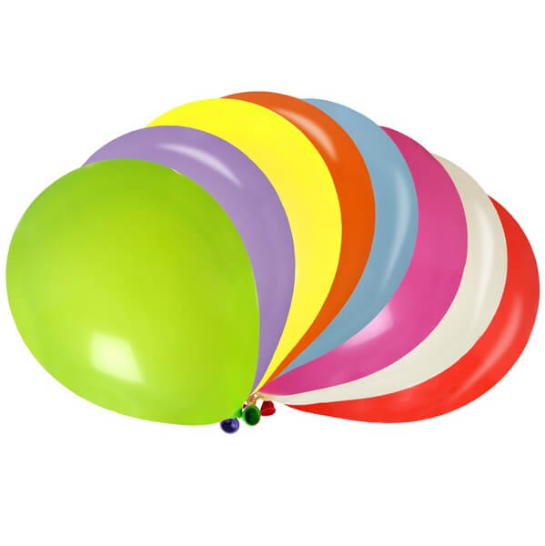 Ballon en latex multicolore de 23cm