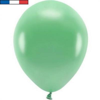 Ballon français en latex opaque 25cm vert menthe (x100) REF/19940