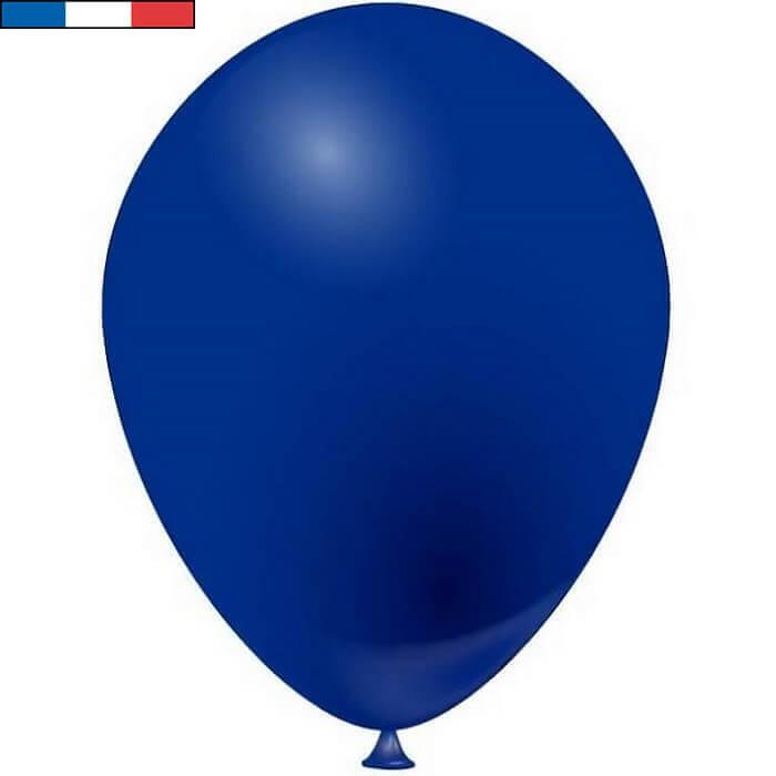Ballon en latex opaque fabrication francaise 25cm bleu marine