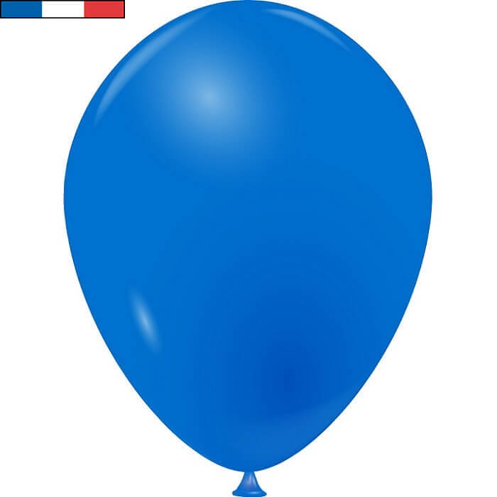 Ballon en latex opaque fabrication francaise 25cm bleu