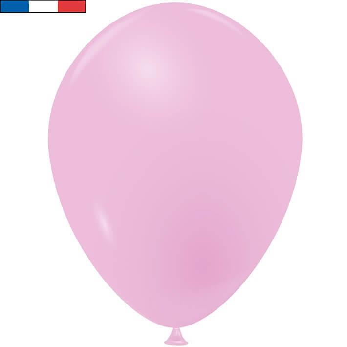Ballon en latex opaque fabrication francaise 25cm rose