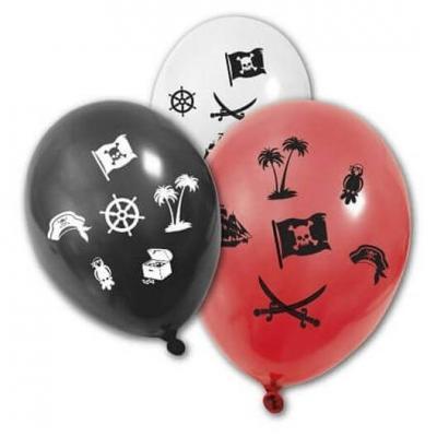 Ballon multicolore: Pirate (x8) REF/BA1430