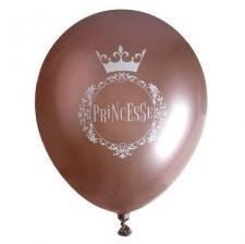 Ballon en latex rose gold pour fête anniversaire Princesse (x10) REF/7250