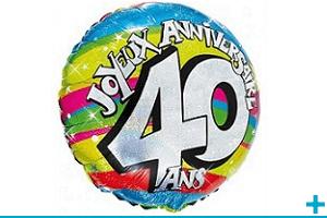 Ballon fete anniversaire aluminium