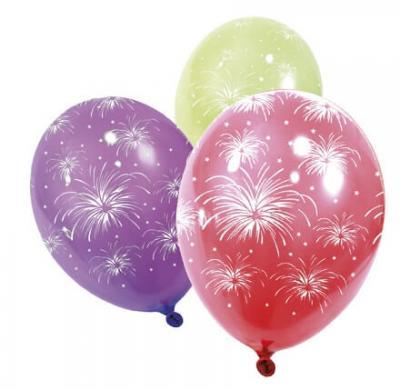 Ballon multicolore: Feux d'artifice (x8) REF/BA1420