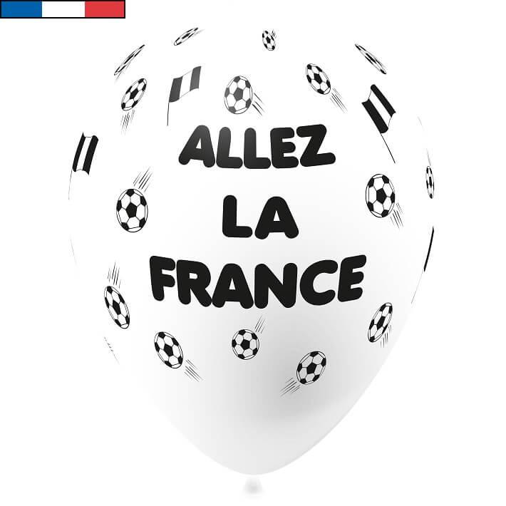 Ballon foot blanc en latex de fabrication francaise
