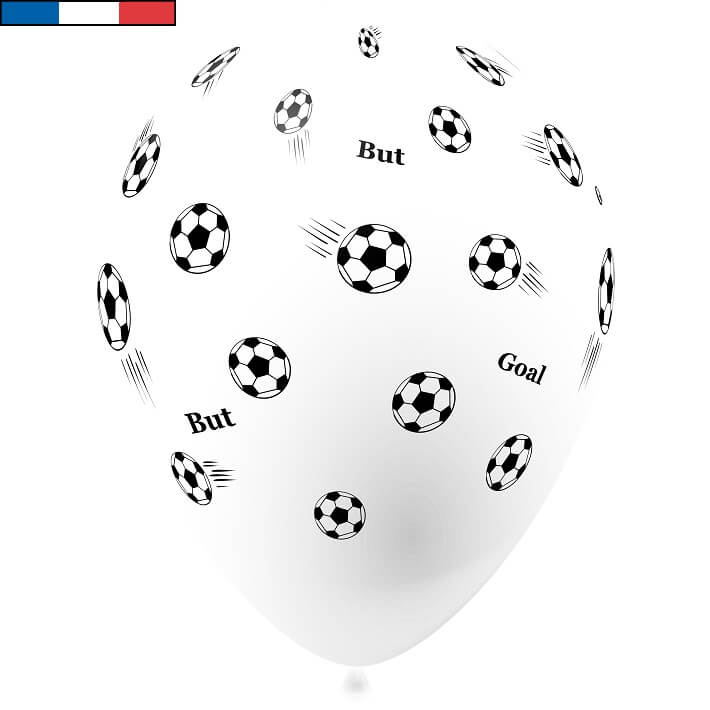 Ballon football blanc en latex de fabrication francaise