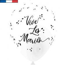 Ballon français mariage blanc 30cm en latex (x8) REF/9309