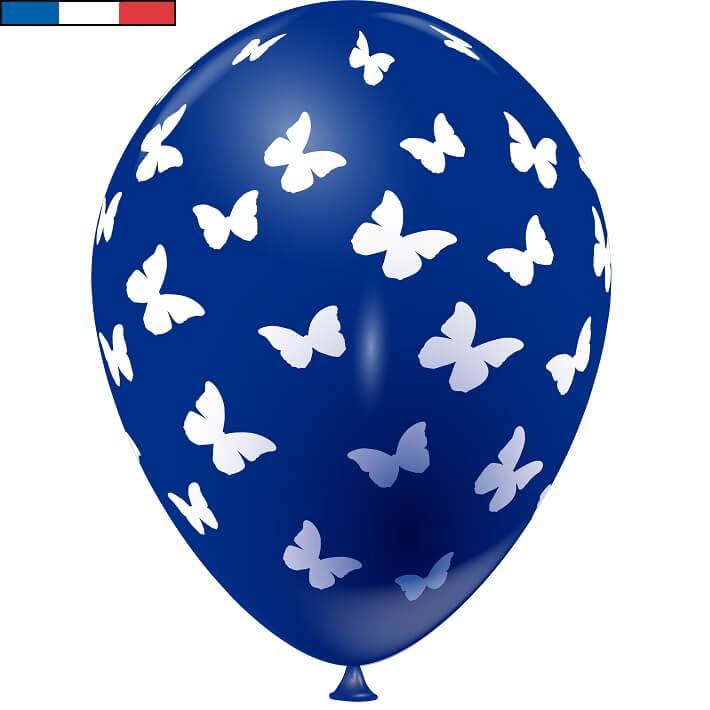 Ballon francais bleu marine papillon en latex