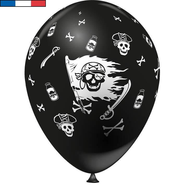 Ballon francais pirate noir en latex
