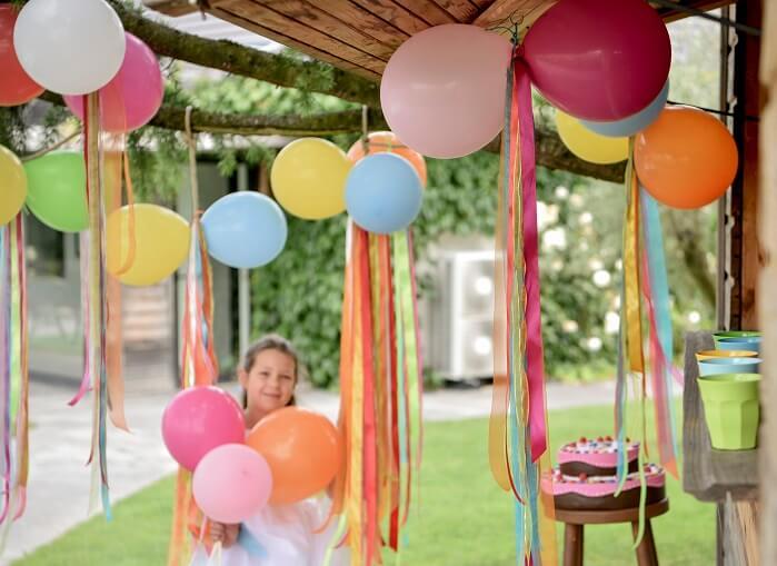 Ballon fuchsia en latex
