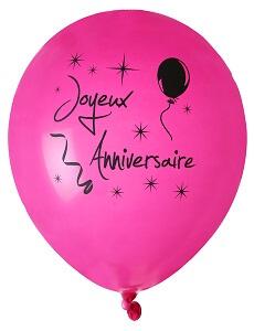Ballon fuchsia joyeux anniversaire