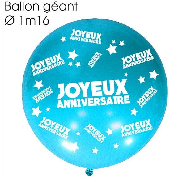 Ballon geant anniversaire bleu