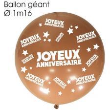 Ballon géant anniversaire cuivre (x1) REF/BALGA00CU