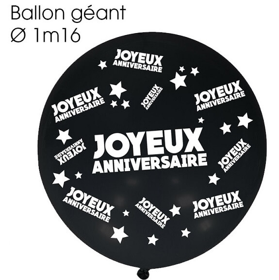 Ballon geant anniversaire noir