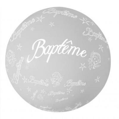 Ballon géant baptême, 1.16m: Argent (x1) REF/BALGB02