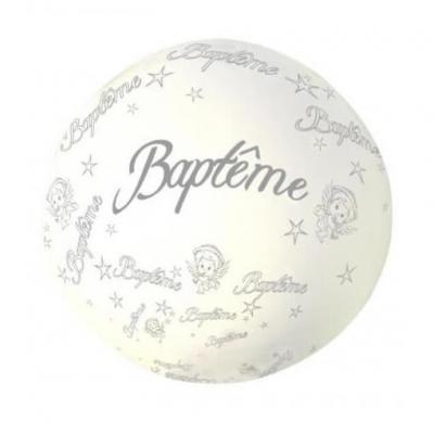 Ballon géant Baptême blanc de 1.16m (x1) REF/BALGB01