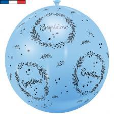 Ballon géant français Baptême bleu pâle 1m (x1) REF/18059