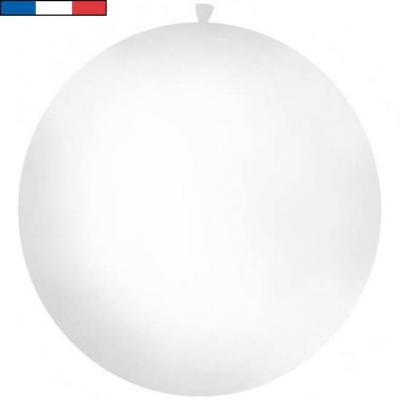 Ballon français géant métallique blanc en latex 1m (x1) REF/9538C