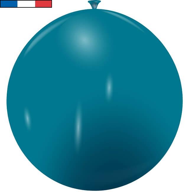 Ballon geant bleu turquoise en latex de fabrication francaise