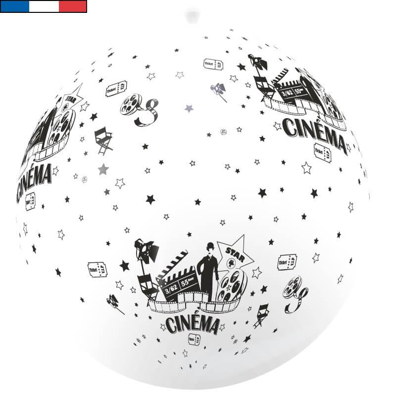 Ballon geant francais cinema blanc et noir en latex