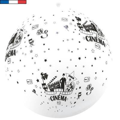 Ballon français géant cinéma blanc et noir 1m en latex (x1) REF/37531