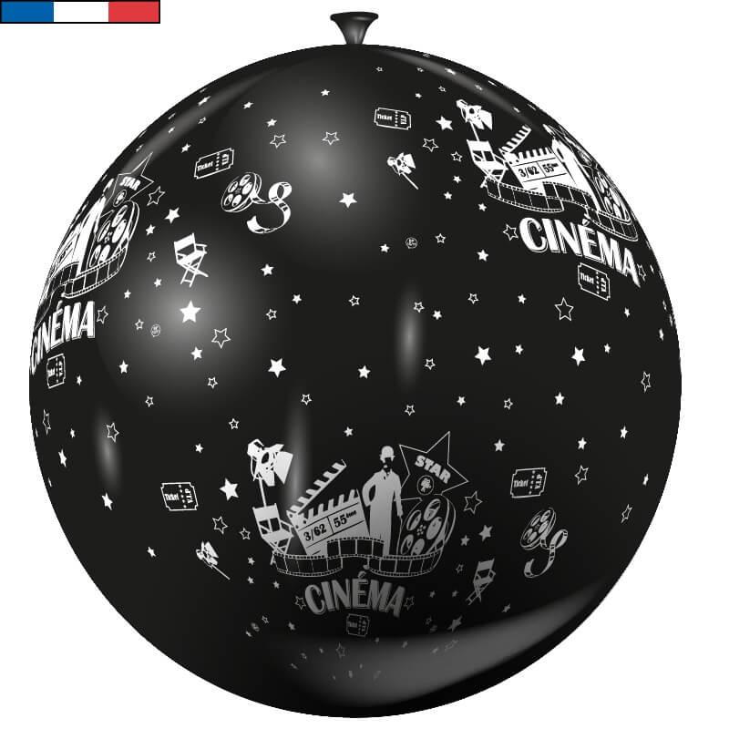 Ballon geant francais cinema noir et blanc en latex