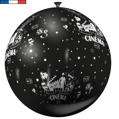 Ballon français géant cinéma noir et blanc 1m en latex (x1) REF/37531
