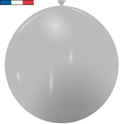 Ballon français géant gris en latex 1m (x1) REF/39375C