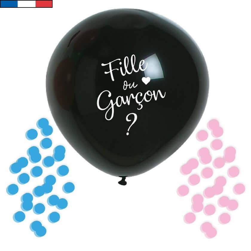 Ballon geant latex naturel baby shower garcon ou fille