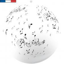Ballon géant français musique blanc en latex 1m (x1) REF/15195
