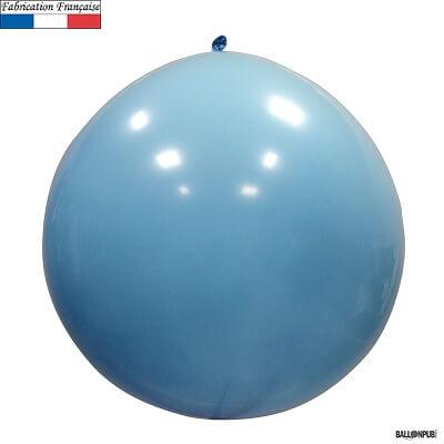 Ballon geant opaque bleu pale