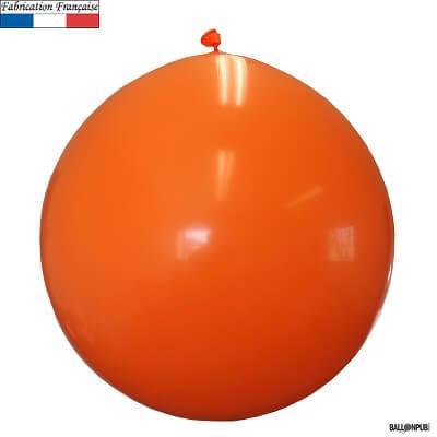 Ballon géant opaque orange, 1m (x1) REF/3215C