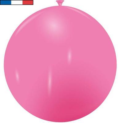 Ballon français géant rose bonbon en latex 1m (x1) REF/21325C