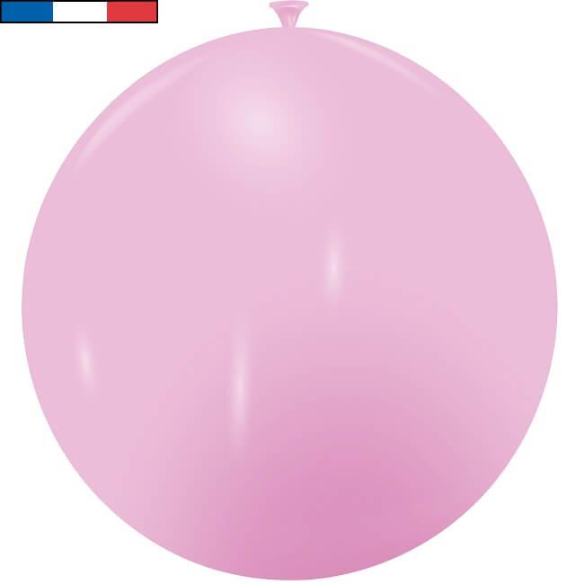 Ballon geant rose en latex de fabrication francaise