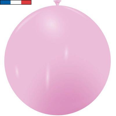 Ballon français géant rose en latex 1m (x1) REF/3192C