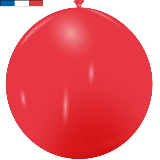 Ballon geant rouge en latex de fabrication francaise