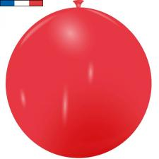 Ballon geant rouge en latex de fabrication francaise