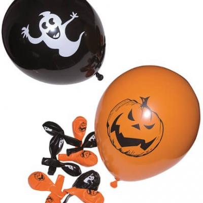 Ballon Halloween orange et noir (x10) REF/10330