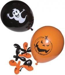 Ballon Halloween orange et noir (x10) REF/10330
