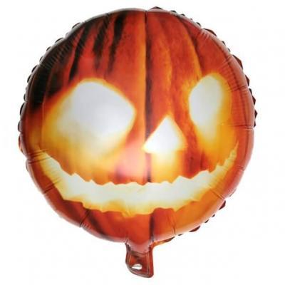 Ballon Halloween citrouille de 45cm en aluminium (x1) REF/6515