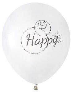 Ballon happy blanc