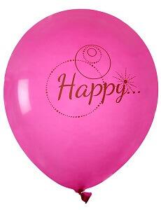 Ballon happy fuchsia